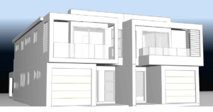 Houseplan Design - Duplex -Stevens Ave, Miranda - under construction