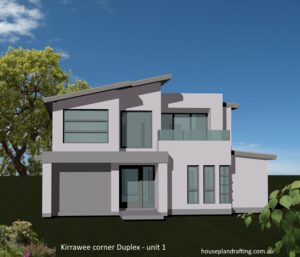 House Plan Design Kirrawee Duplex unit 1