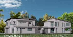 House Plan Design Kirrawee Duplex unit 1 and 2-a