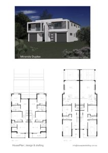 House Plan Design Miranda Duplex -20